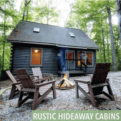 rustic hideaway cabin