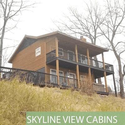 skyline view cabins